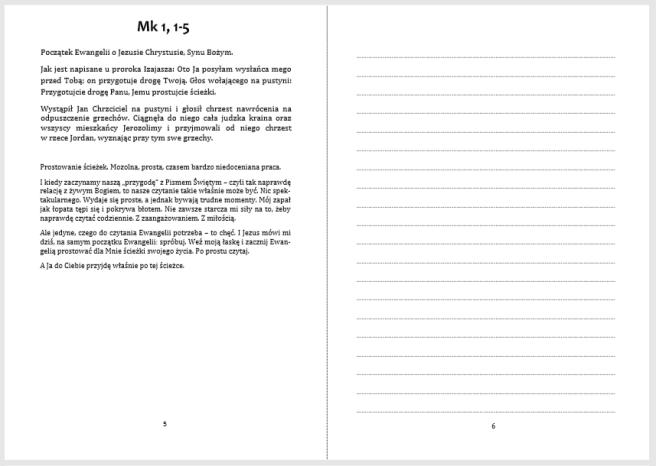 strona z notesu Marka